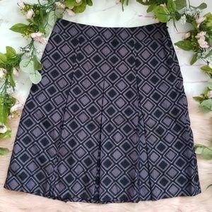 Ann Taylor Pleated Geo Skirt